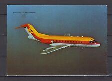 Postcard 1195 - Aircraft/Aviation Fokker F-28 Fellowship