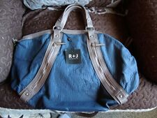 NWT - R J Handbag - Tote - Blue / Brown
