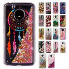 For Motorola Moto E4 Liquid Glitter Quicksand Hard Case Phone Cover Accessory