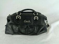 Coach Ashley convertible Black Leather Handbag / Satchel F15445 GUC
