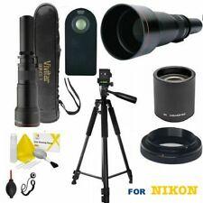 "HD TELESCOPE TELEPHOTO ZOOM LENS 650MM-2600MM + 60"" PRO TRIPOD FOR NIKON D3400"