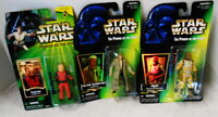 LOT OF 3 STAR WARS ACTION FIGURES 1996-96-2001 BOSSK HAN SOLO ZUTTON