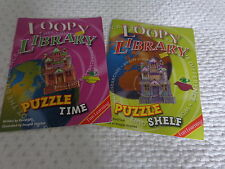 bnwot 7 loopy library puzzle books fun learning
