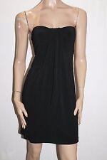 SIS Designer Black Jersey Strapless Dress Size XS BNWT #SN21