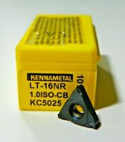 10 PIECES, KENNAMETAL, 16NR 1.0 ISO-CB KC5025 CARBIDE INSERTS,   H485