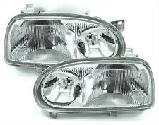 2 FEUX PHARE AVANT DOUBLE OPTIQUE H1 VW GOLF 3 III VARIANT CL GL GT GTD GTI TDI