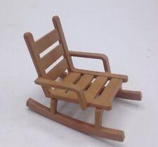 PLAYMOBIL Light Brown Rocking Chair Western Farmhouse Sheriff Dollhouse