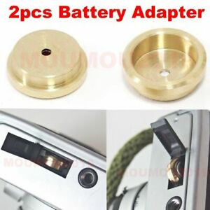 2pcs copper made Battery Adapter for Film Camera Exposure Meter MR-9 PX625 PX13