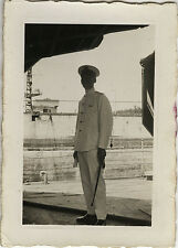 PHOTO ANCIENNE - VINTAGE SNAPSHOT - MILITARY MARIN SABRE UNIFORME - SAILOR