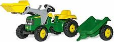John Deere Ride-on Tractor with Loader and Detachable Trailer Kids SALE