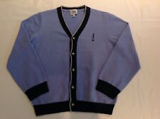 Authentic Armani Pale Blue Cotton / Wool Long Sleeve Cardigan  Boys Age 8