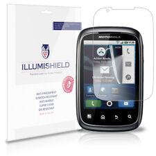 iLLumiShield Phone Screen Protector w Anti-Bubble/Print 3x for Motorola Spice