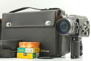 All Works [ MINT w/Key ] Nikon R10 Super 8mm Movie Film Camera + Hood CASE JAPAN