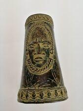 Manchette , bijoux en bronze ancien, Afrique centrale XIXème ( 20 cm de long )