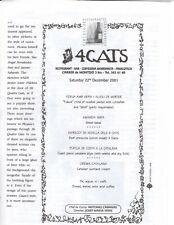 4 Cats/Els 4 Gats Restaurant Menu Barcelona, 22nd Dec 2001