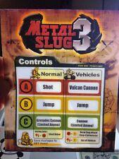 Metal Slug 3 Arcade Marquee