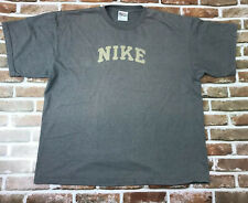 Vintage Nike Shirt XL Spellout Embroidered White Tag Made In USA Gray