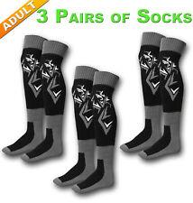 3 Pairs!! ADULT Motocross ATV Enduro MX Socks long over knee Size 8-13