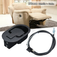 Metal Recliner Handle Release Lever Trigger Cable Set Sofa Lounge Chair Replace