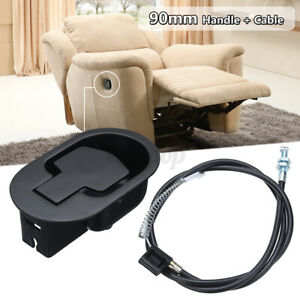 Metal Recliner Handle Release Lever Trigger Cable Set Sofa Lounge Chair