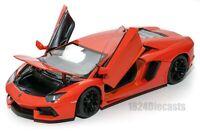 Lamborghini Aventador LP700-4 Orange, Welly 24033, scale 1:24, model adult gift
