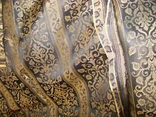 "VTG GOLD BROCADE 1930'S 40's FINE SILK TIE FABRIC 2 PIECES 15 1/4"" WIDE BY 25"" L"