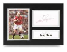 Jaap Stam Signed A4 Photo Display Manchester United Autograph Memorabilia + COA