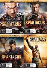 SPARTACUS: Blood & Sand/ Gods of Arena/ Vengeance / War Of The Damned : NEW DVD