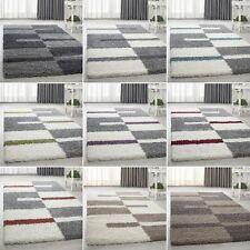 Shaggy Hochflor Kariert Designer Günstige Teppiche versc. Farben und Größen