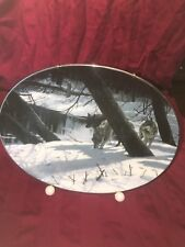 Winter Shadows Moonlight Shadows Plate #6 Wolf Wolves +Coa Persis Clayton Weirs