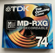 A TDK MD-RXG 74 BLANK RECORDABLE MINIDISC NEW & SEALED FREEPOST