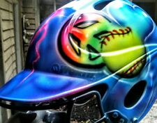 Airbrushed baseball softball helmet custom designs 11