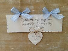 Personalised Godparent Christening Gift Handmade Wooden Keepsake Gift   Sign