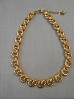 Chunky Trifari Gold Tone Link Choker Necklace
