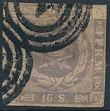 [37481] Denmark 1854/64 Good classical stamp Very Fine used Value $130