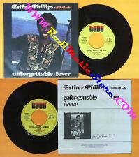 LP 45 7'' ESTHER PHILLIPS JOE BECK Unforgettable Fever 1976 italy no cd mc dvd*
