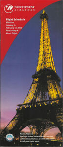 Northwest Airlines system timetable 1/3/02 [308NW] Buy 4+ save 25%