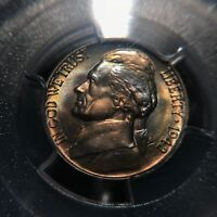 1942 D Jefferson Nickel PCGS MS66FS TONED Rare Five Cent War Nickel 5c