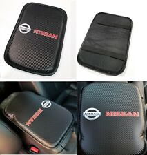 JDM Carbon Fiber Car Center Console Armrest Cushion Mat Pad Cover For NISSAN