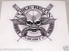 Force Recon Skull Decal Sticker Decals diesel Army Navy Marine Special Forces