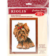 Yorkshire Terrier Riolis Needlecraft Counted Cross Stitch Kit