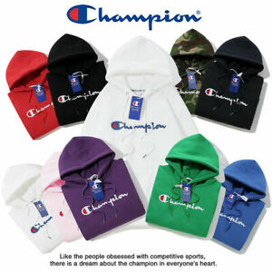 Hot Women's Men's Classic Champion Hoodies Embroidered Hooded Sweatshirts Coat