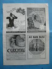 PUBBLICITA ADBERTISING BINOCOLO FOTOGRAFIA COIFFEUR POSTER GRANDE GRAFICA 1933