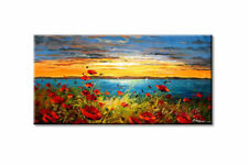 Huge Hand-painted Wall Decor Art Abstract Oil Painting Canvas,Scenery(No Frame)
