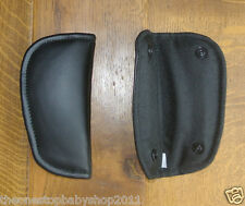 Mamas and Papas GO EAT BLACK FAUX LEATHER HIGHCHAIR HARNESS STRAP PADS NEW