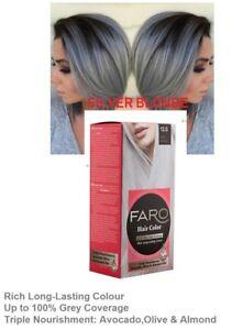 Silver Blonde FARO 12.0 Permanent hair dye colourant,100% GREY COVERAGE