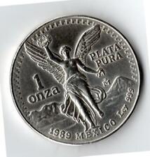 1989 Mexico 1 Onza Silver Libertad - 999 Silver
