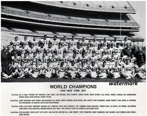 NFL 1968 World Champion Super Bowl New York Jets Team Pic 8 X 10 Photo Picture