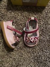 Wee Squeak Sandals Katia Size 3 Pink Flowers Baby Girl
