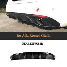 PP Rear Diffuser Lip Body Kit  Exhaust Tips for Alfa Romeo Giulia Sedan 17-18